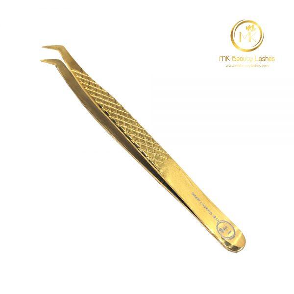 Tweezer Eyelash Extension Mk 01 Gold